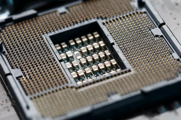 マクロcpuソケットcpuソケット Premium写真