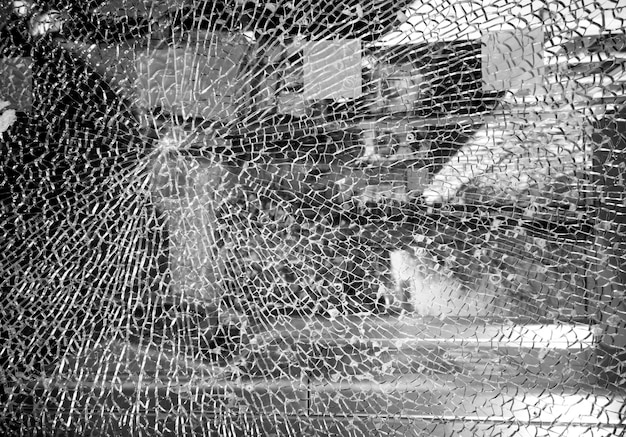 Cracked glass or mirror texture Premium Photo