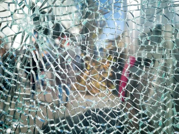 Cracked glass or mirror texture Premium Photo