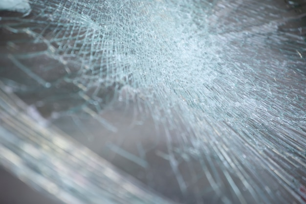 Cracked glass texture background. Premium Photo