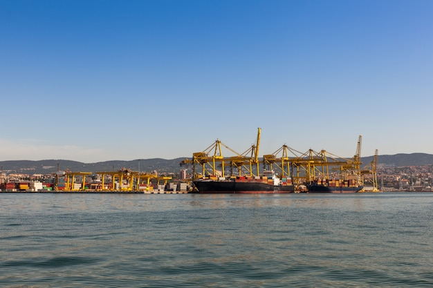 Crane bridge in shipyard Premium Photo
