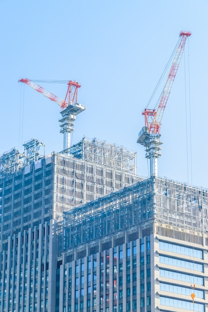 Crane construction building Free Photo