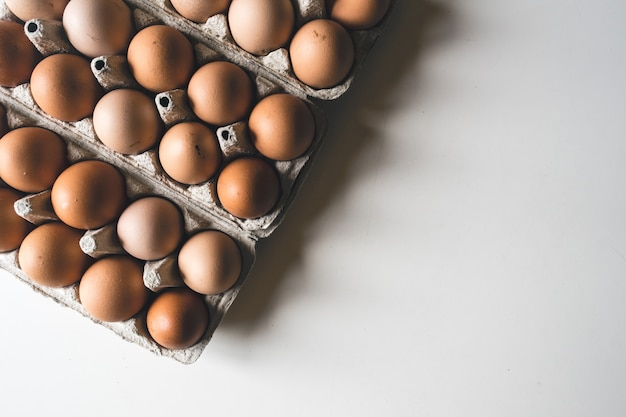 Crate of eggs Free Photo