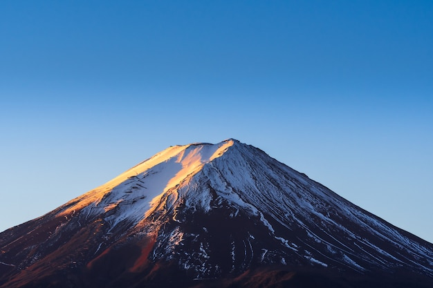 Crater covered with snow. Premium Photo