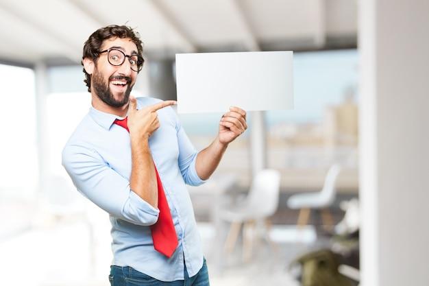 Uomo d'affari pazzesco felice espressione Foto Gratuite