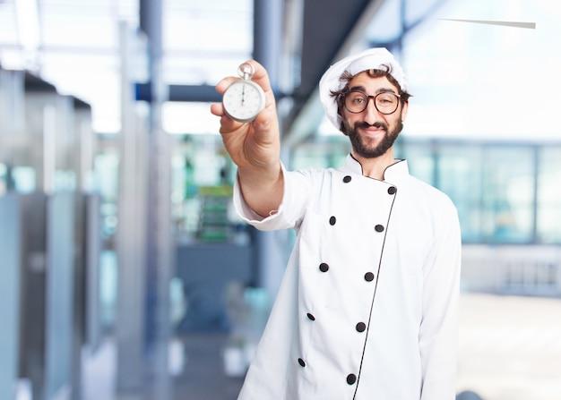 Cuoco pazzo felice espressione Foto Gratuite