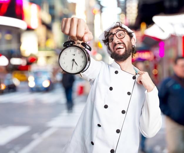 Cuoco pazzo espressione preoccupata Foto Gratuite