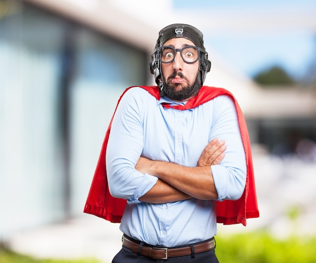 Crazy hero worried expression Photo | Free Download