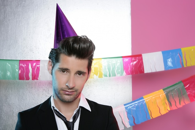 Crazy humor funny gesture party suit man Premium Photo