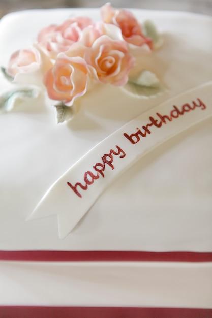 Creamy Birthday Cake Photo Free Download