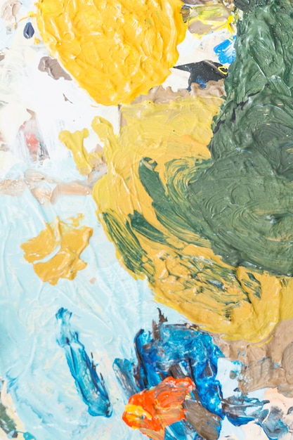 Creamy textured of mixed color painting backdrop Free Photo