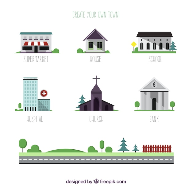 Create your own town vector free download for Design your own building free