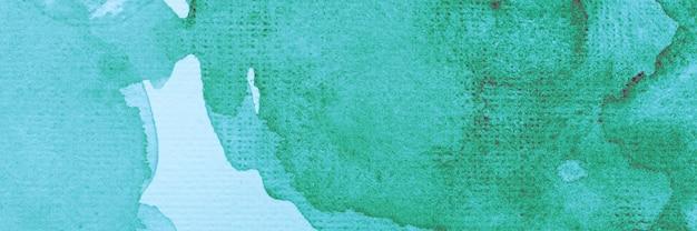 創造的な抽象的な水彩画の緑のペンキ Premium写真