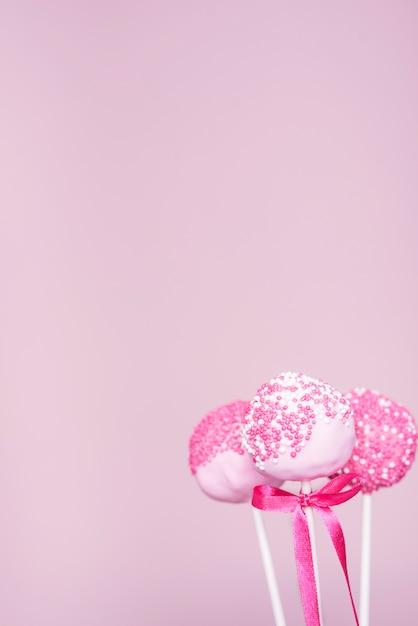 Creative cake pop concept Free Photo