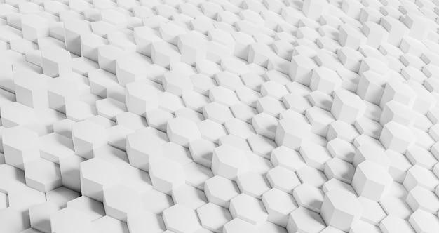 흰색 육각형으로 창조적 인 기하학적 배경 무료 사진