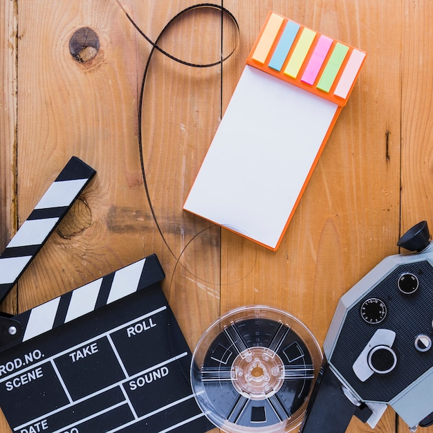 Creative layout of cinema accessories Free Photo