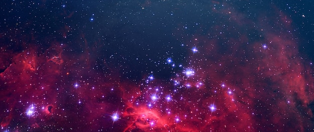 A creative surreal science abstract galaxy sky with many stars, color dust elements of this image furnished by nasa Premium Photo