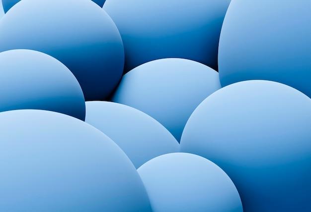 파란 구체와 창조적 인 벽지 무료 사진