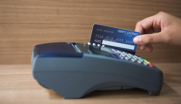 Credit card, credit card use, credit card payment Premium Photo