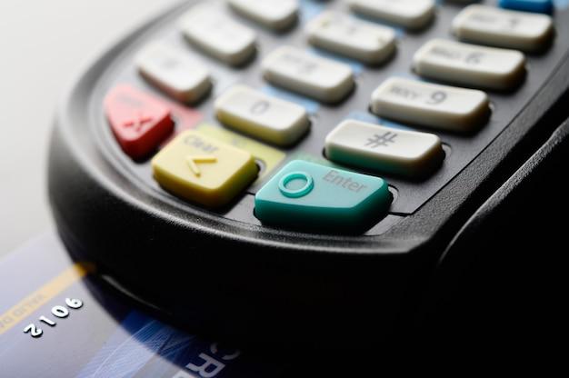 Credit card reader, selective focus Free Photo