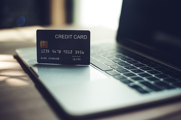 Credit cards, credit cards for financial transactions. Premium Photo