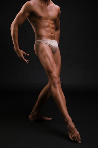 Crop dancer in underwear Free Photo