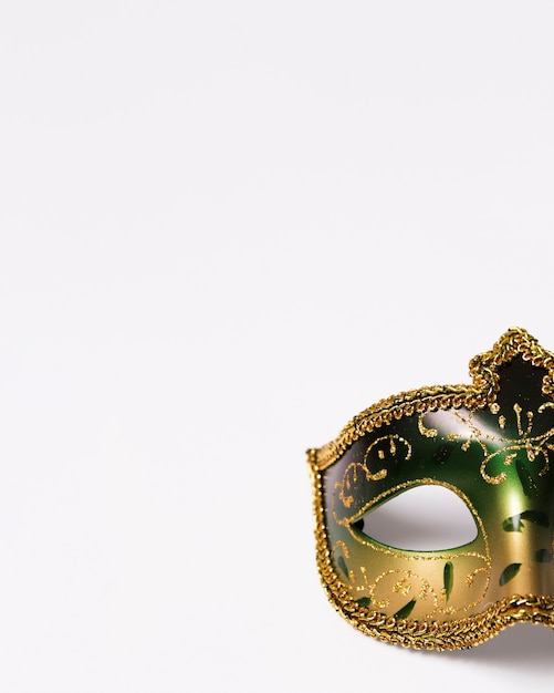 Crop elegant mask on white Free Photo