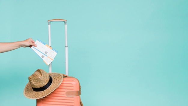 Crop hand and traveler accessories Premium Photo