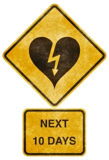 Crossing road grunge sign   heart strick Free Photo