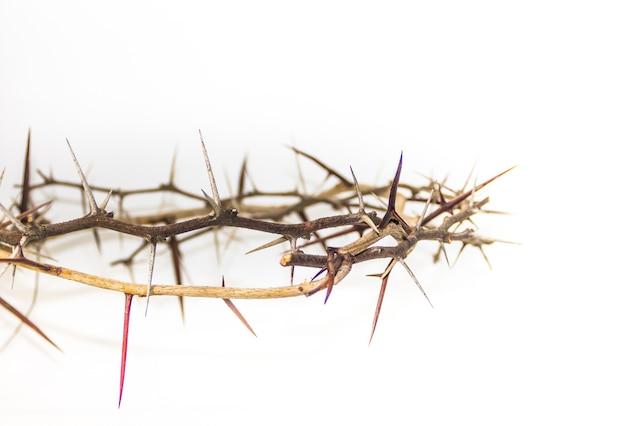 기독교 종교의 가시 왕관 상징 프리미엄 사진