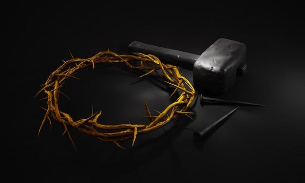 イエス・キリストの磔刑 Premium写真