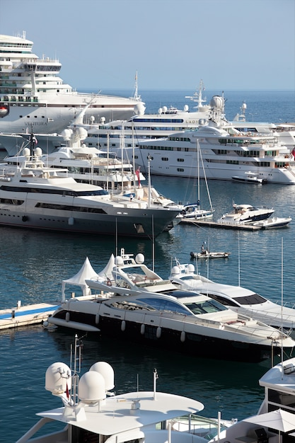 Cruise Ships And Yachts In Monaco Harbor Photo Free Download - Cruise ships in monaco today