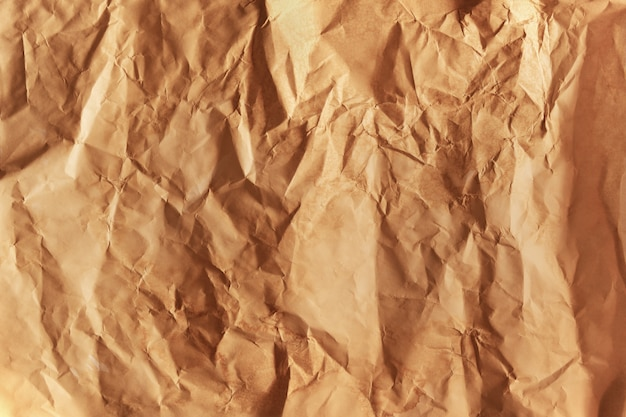 Crumped brown paper Free Photo