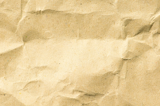 Crumpled Carton Paper Texture Vintage Background From