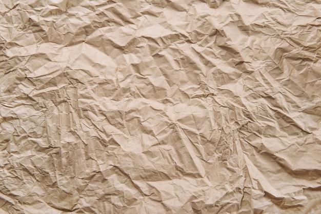 しわくちゃの紙の背景 Premium写真