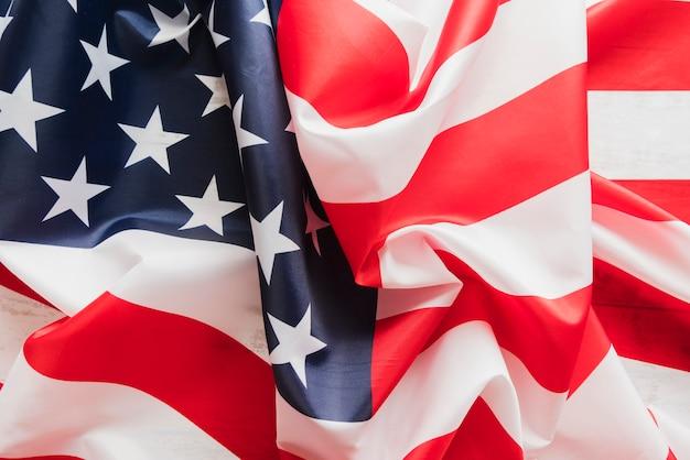 Crumpled united states flag Free Photo