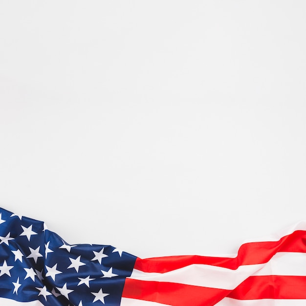 Crumpled usa flag with stars and stripes Free Photo