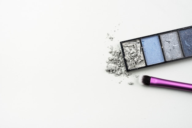 Crushed eye shadow with copy space Free Photo