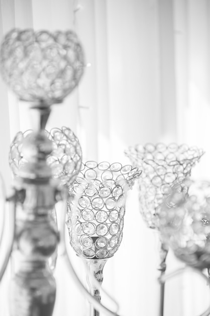Premium Photo Crystal Candle Holder Sparkle Is What Is Used For Wedding Decorations