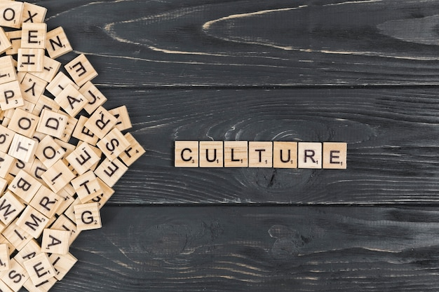Culture word on wooden background Free Photo