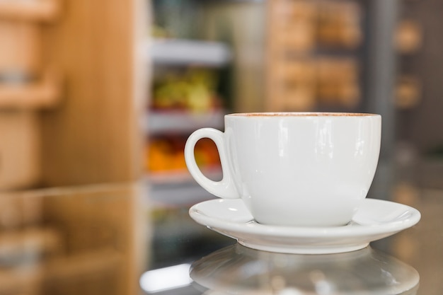 Cup of coffee in caf� shop Free Photo