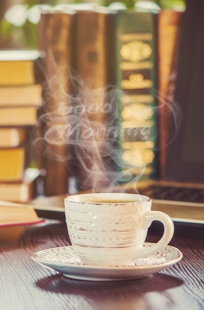 A Cup Of Coffee And A Smoke Good Morning At The Office At