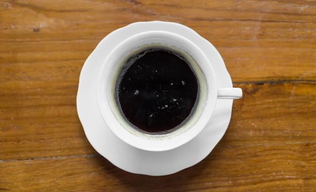 Cup of coffee viewed from above Free Photo