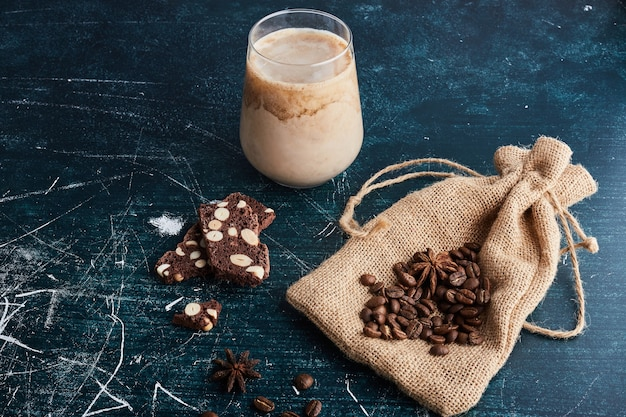 A cup of coffee with chocolate. Free Photo