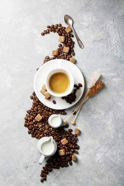 Cup of espresso coffee Premium Photo