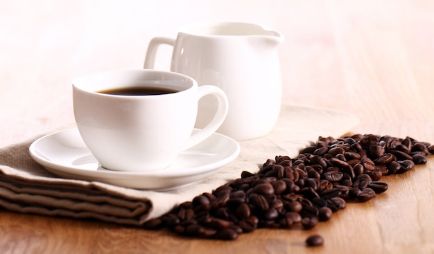 Cup of hot coffe Free Photo