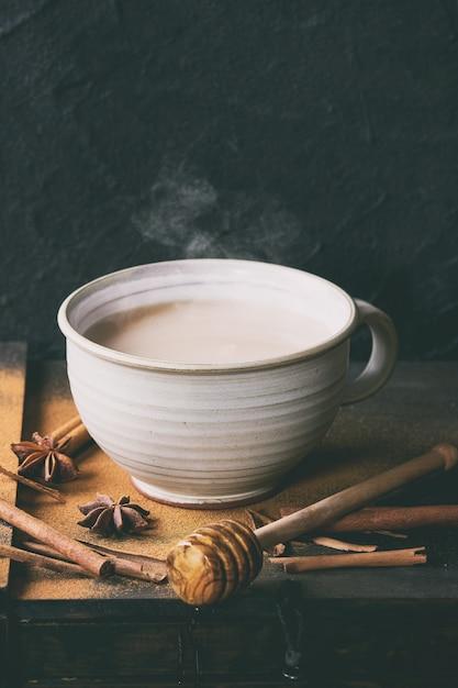 Cup of masala chai Premium Photo