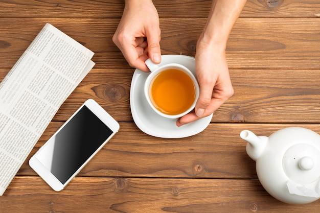 Cup of morning tea Premium Photo