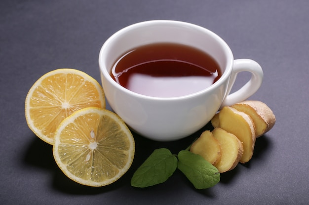Cup of tea with ingredients Free Photo