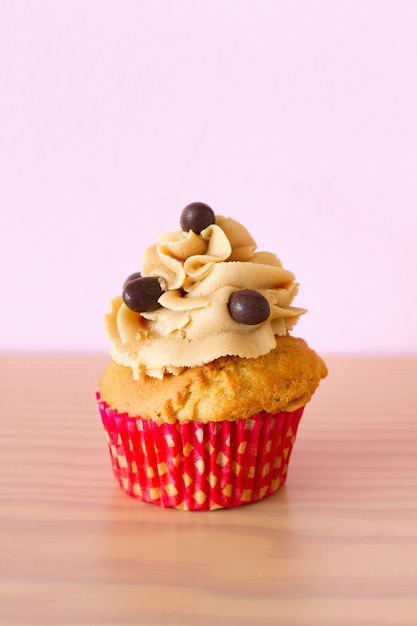 Cupcake with coffee and chocolate Premium Photo